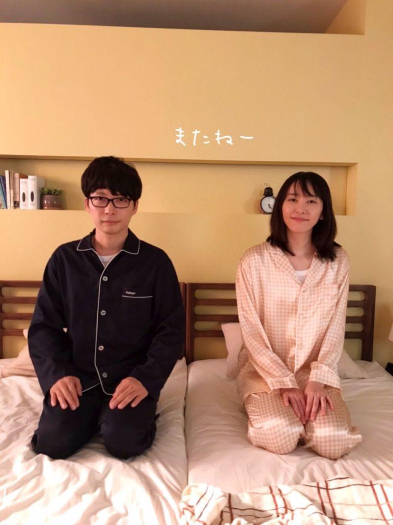 ▲星野源(左)、新垣結衣無預警閃婚。(圖/月薪嬌妻官方推特)