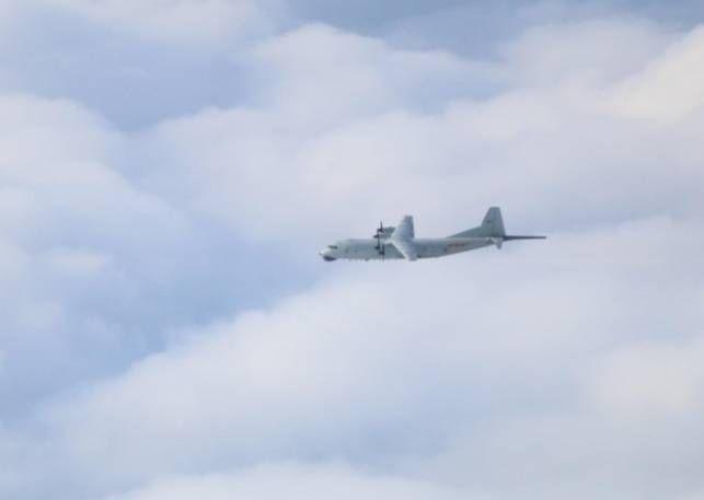 ▲共軍運8反潛機。(圖/國防部提供)