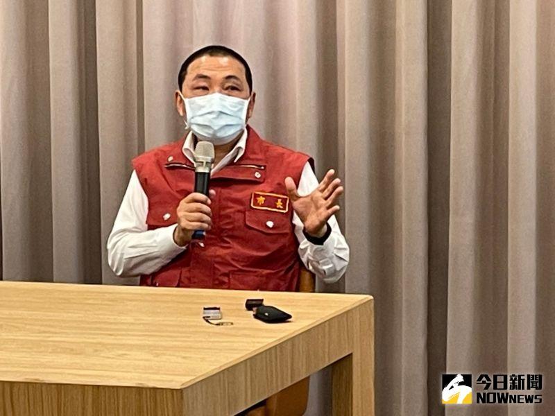 ▲新北市長侯友宜表示,新北市累計已594例,將透過新北市醫師公會組成的「基層診所防疫隊」強化防疫量能。(圖/記者陳志仁攝,2021.05.19)