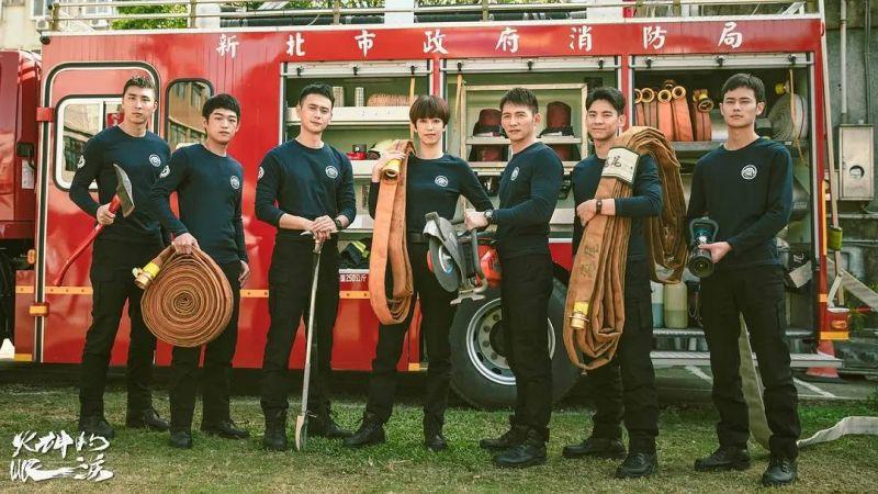 ▲《火神的眼淚》由陳庭妮、林柏宏、劉冠廷、溫昇豪主演,以角色解析「消防英雄的失落與偉大」。(圖/公視提供)