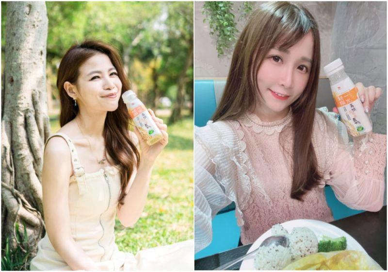 ▲蘿莉塔和Nico古璇也是統一陽光高纖燕麥穀奶的忠實愛好者,不論早餐晚餐還是運動後都適合飲用。