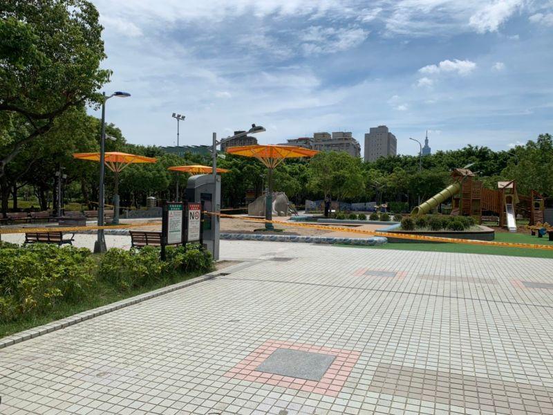 ▲台北市工務局表示,因應疫情升溫,即日起台北市所屬的公園設施都暫停開放至5月28日。(圖/台北市工務局提供)