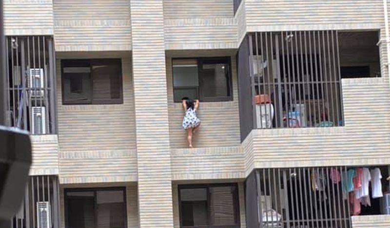 6歲女童攀爬7樓外牆 網友:小孩比疫情可怕!