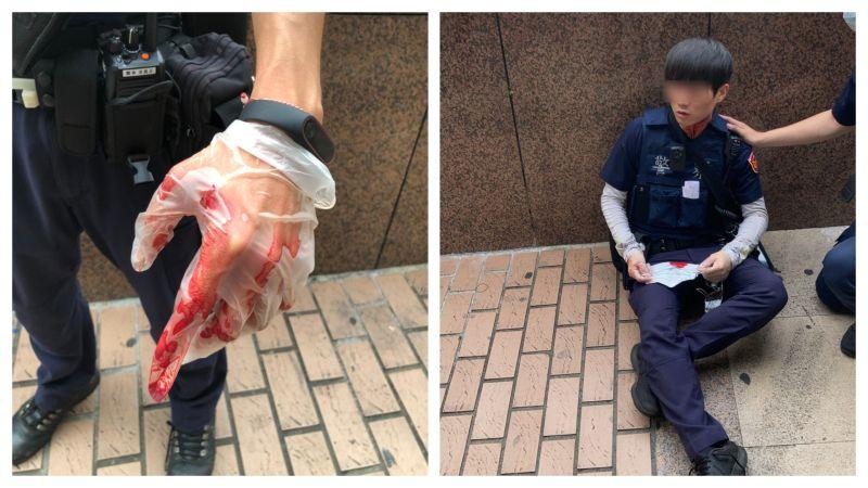 ▲22日台北車站附近發生2名員警遭砍事件。(圖/中正一分局提供)
