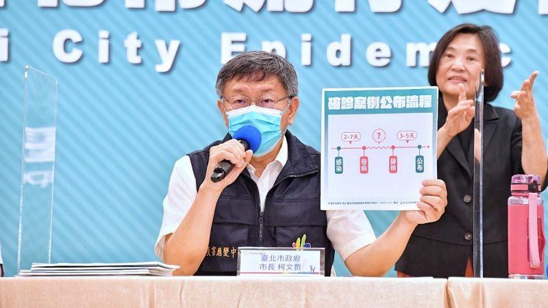 ▲針對「校正回歸」一詞,台北市長柯文哲23日表示,自己身為醫學院教授,也是第一次聽說這個用詞。(圖/台北市政府提供)