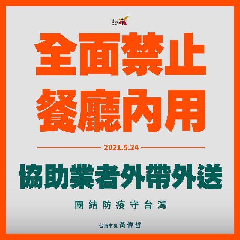 台南今起餐飲業全面禁止內用 違反即罰沒有勸導期