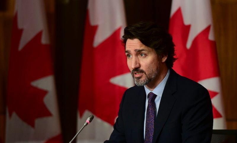 ▲加拿大大選開票作業接近尾聲,加拿大媒體預測總理杜魯道可望勝選。(圖/美聯社/達志影像)