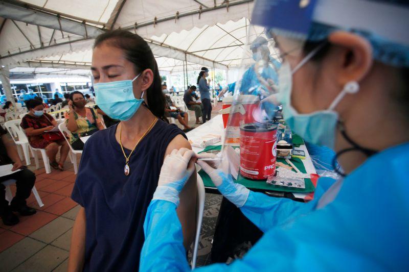 ▲泰國近日疫情升溫,政府為加速疫苗接種計畫,希望能在今年底達成7成民眾接種目標。資料照。(圖/美聯社/達志影像)