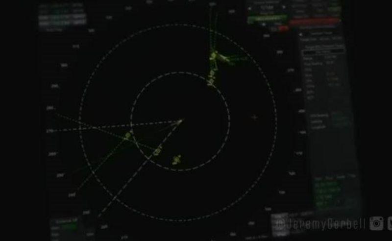 不明飛行物高速包圍美軍艦!46秒雷達影像曝光
