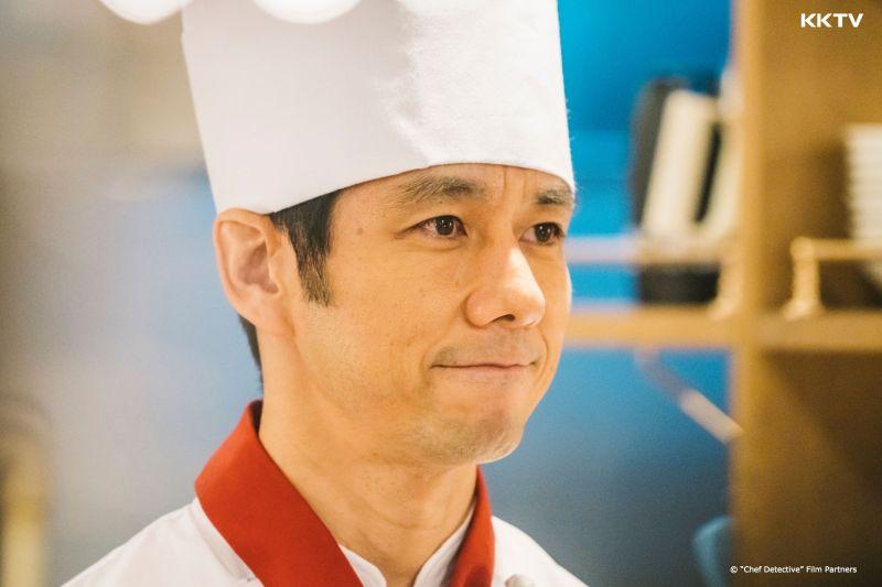 ▲劇中,西島秀俊飾演法式餐廳主廚,沉穩卻愛管閒事。(圖/KKTV)