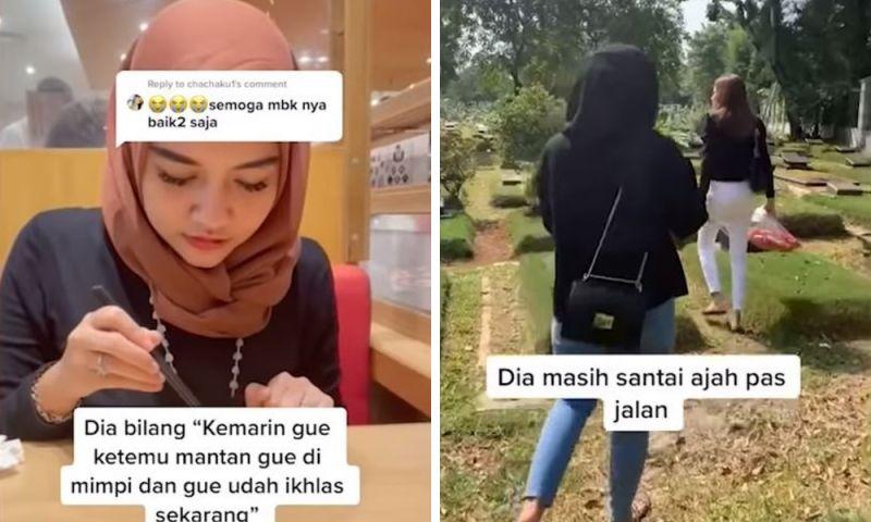 ▲印尼女孩近日得知兩年前分手真相。(圖/翻攝自抖音)