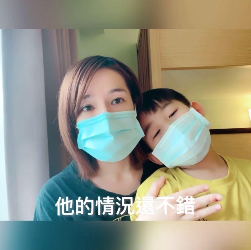 ▲林彥汝申請與兒子同住,所方也答應,她說小朋友同樣沒有任何症狀。(圖/林彥汝臉書)