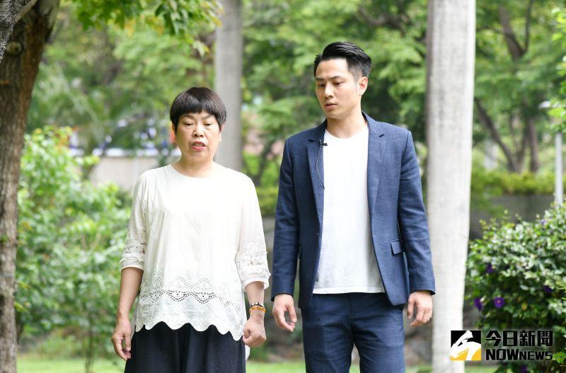 ▲褚宏垚的母親王玲娟,則是在兒子最失意的這段時間,扮演著重要角色。(圖/記者林調遜攝)