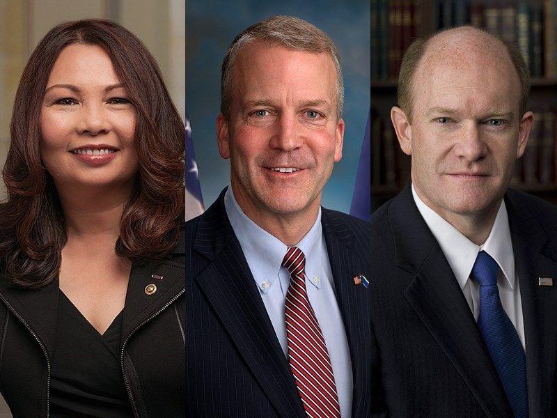 美國3位參議員6日訪台 討論美台關係