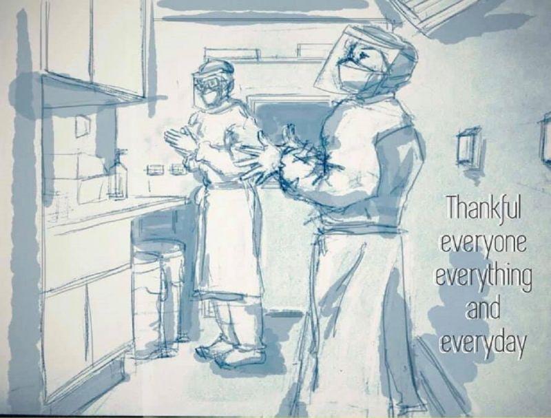醫PO確診者「兩幅畫」:我不是故意要生病的 萬人全暖哭
