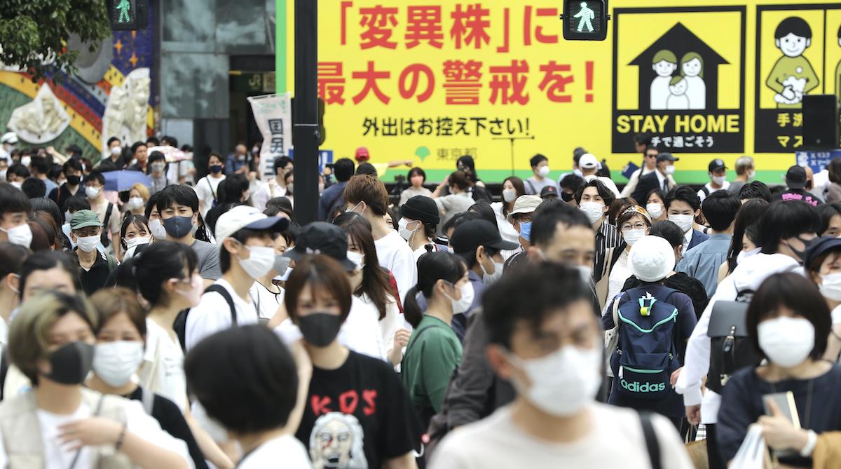 ▲日本因應COVID-19(2019冠狀病毒疾病)疫情的緊急事態宣言與防止蔓延等重點措施今天起全數解除。資料照。(圖/美聯社/達志影像)