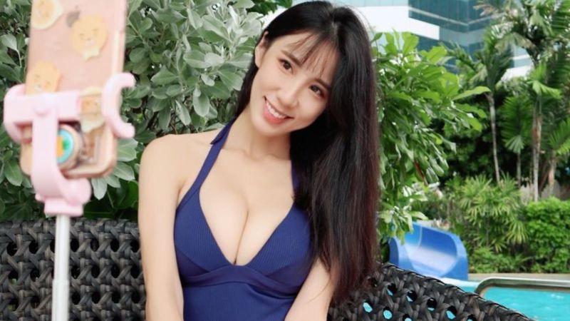 瑤瑤哀喊2年沒玩水 「極深U泳衣照」洩F級性感