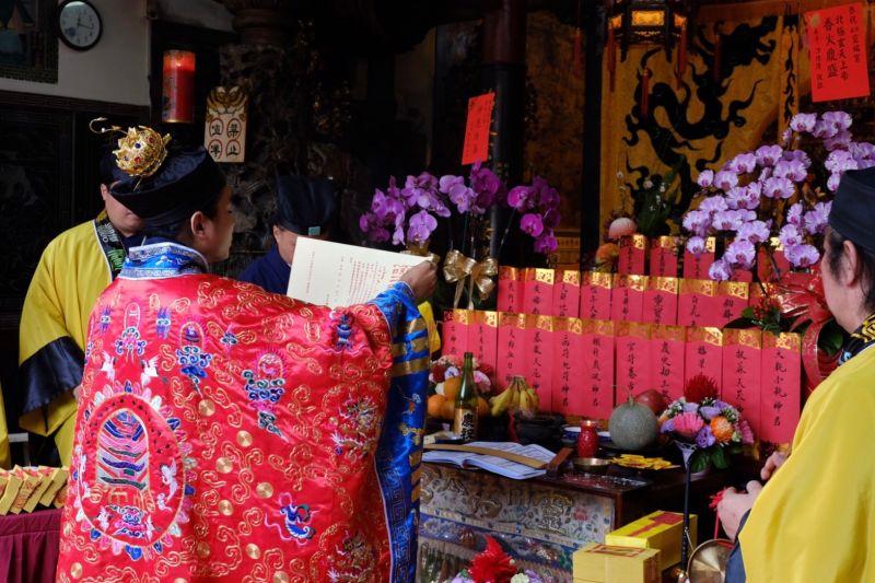 台灣首次線上祈福法會。(圖/開基靈祐宮提供)
