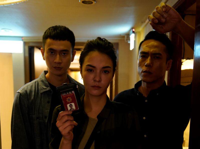 ▲劉冠廷(左起)、張榕容、莊凱勛《第三佈局