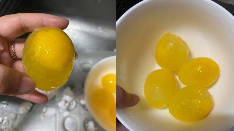 ▲女網友發現家裡的雞蛋放在冰箱冷藏後卻結凍了,擔心只能報銷的她發文求助卻意外釣出不少老饕回應。(圖/翻攝自臉書社團《爆怨2公社》)