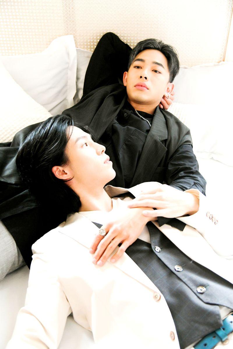 ▲鄭暐達(左)被林禹媽媽欽點當女婿。(圖/三立)