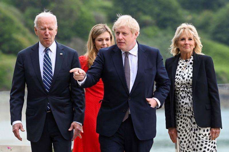 ▲美國總統拜登和英國首相強生將首度面對面會談。前來英國訪問的拜登預料將對強生表達明確警告,要求勿讓脆弱的北愛爾蘭和平落入險境。(圖/美聯社/達志影像)