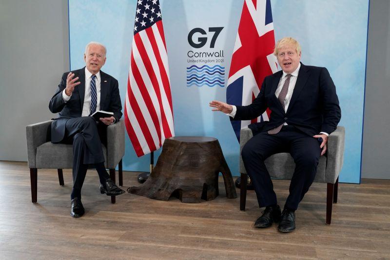 ▲英國脫離歐洲聯盟(EU)後,北愛爾蘭情勢緊張。英國首相強生堅稱英國、美國與歐盟在保護北愛和平議題上,站在「共同立場」。(圖/美聯社/達志影像)