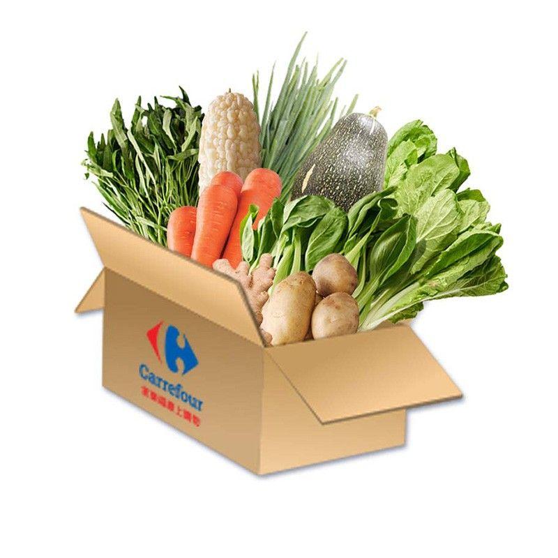 ▲家樂福推出防疫蔬菜箱。(圖/家樂福提供)