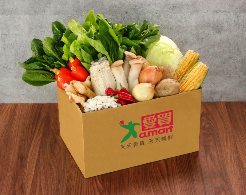 ▲愛買推出防疫蔬菜箱。(圖/愛買提供)