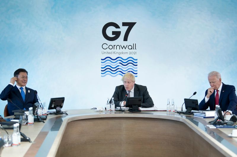 ▲英美媒體引述拜登政府內部消息指,拜登將促請G7合作,遏止中國日益增加的影響力。(圖/美聯社/達志影像)