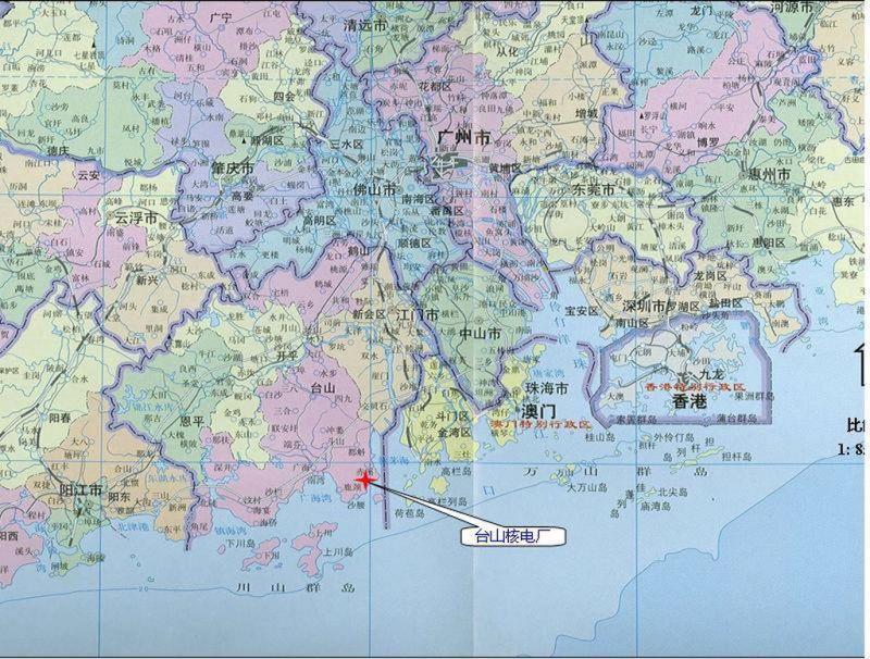 ▲台山核電廠所在位置。(圖/翻攝自台山政府網)