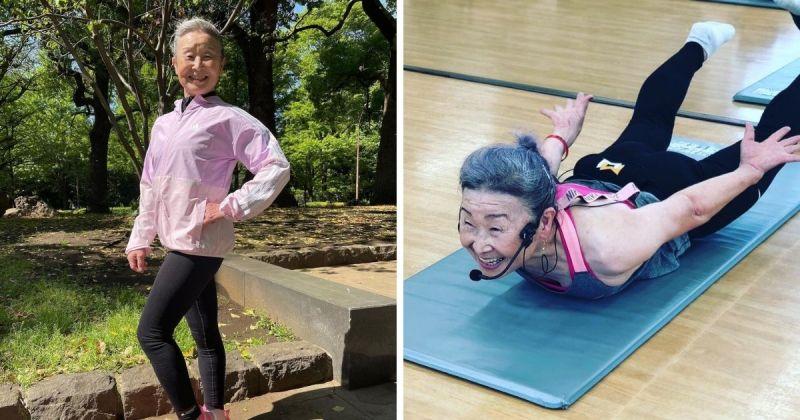 ▲對瀧島未香 (Takishima Mika) 來說,年齡不過是數字而已。即便已達90歲高齡,她仍然堅持天天運動,並在健身房擔任教練。(圖/擷取自@takimika_poweraging/G)