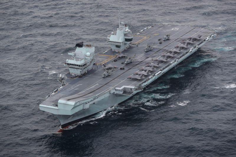 ▲英國航艦伊麗莎白女王號5月下旬展開成軍後第一次遠洋部署。(圖/英國皇家海軍臉書)