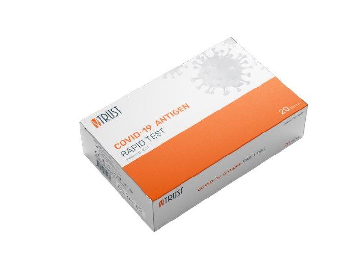 ▲食藥署17日宣布泰博科技公司旗下的「福爾威創家用新型冠狀病毒抗原快速檢驗套組」,正式通過專案製造核准,這也是首款由台灣業者自行研發的居家快篩試劑。(圖/取自泰博科技公司網頁taidoc.com/tw)