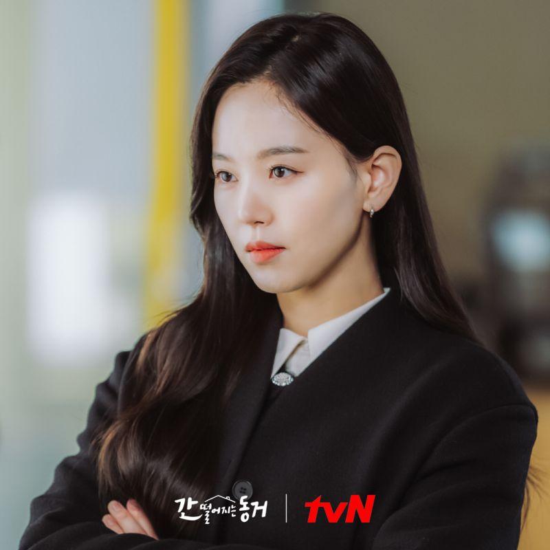 ▲姜漢娜劇中不斷鬧出笑話。(圖/tvN)