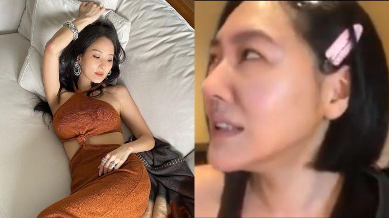 ▲孫芸芸(左圖)在家穿洋裝拍照,遭小S吐槽。(圖/孫芸芸、小S IG)