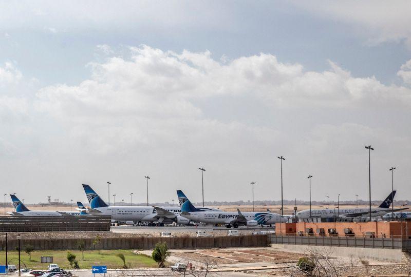▲新冠肺炎跨國傳播風險升高。圖為開羅國際機場。(圖/美聯社/達志影像)