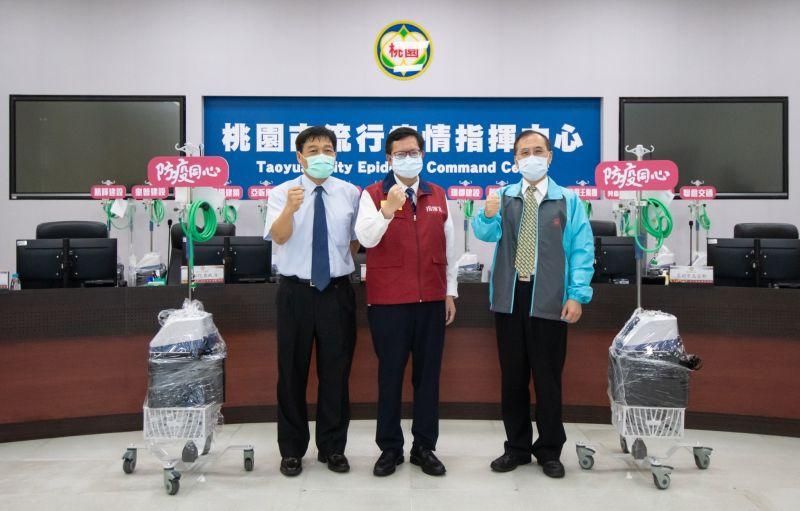 企業捐高流量氧氣鼻導管全配系統 轉11家責任醫院使用