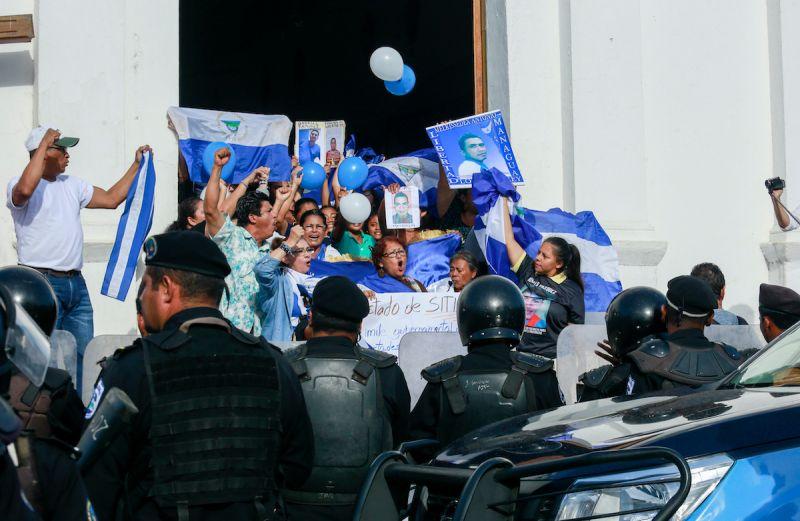 ▲人權觀察發表報告,指控尼加拉瓜總統奧蒂嘉(Daniel Ortega)侵犯人權。圖為2019年尼加拉瓜反政府示威。(圖/美聯社/達志影像)