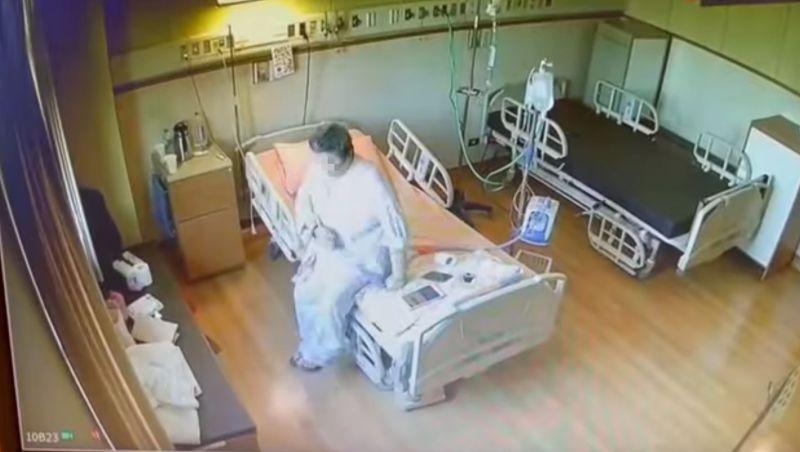 ▲▼重症病患使用HFNC後,自在地在病房內走動,甚至跳起舞來,走了幾趟後才坐回病床。(圖/賈永婕臉書)