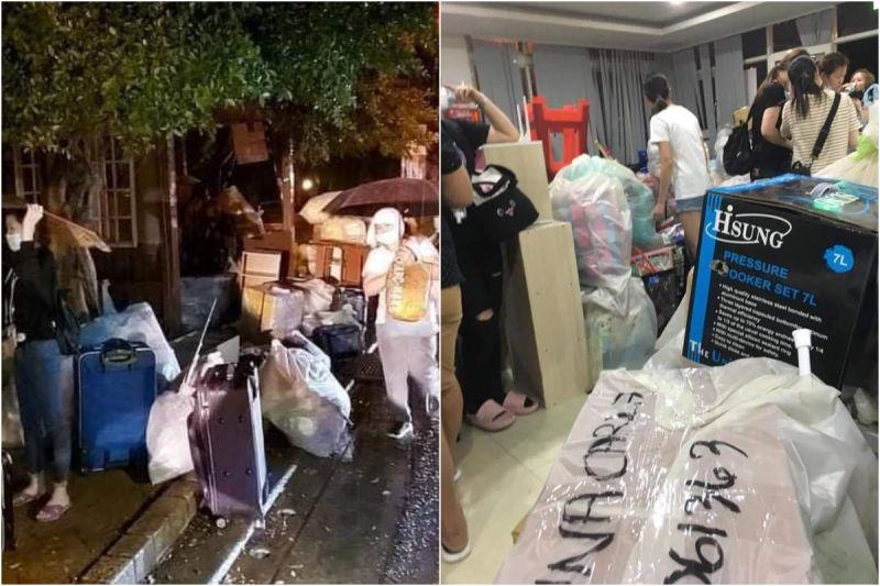 狼狽悽慘又群聚!百餘名京元電移工被要求大雨天搬遷