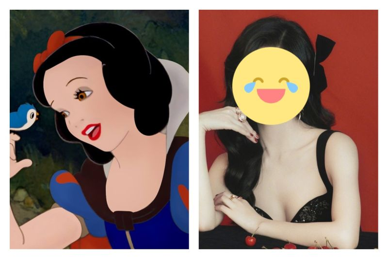 ▲真人版《白雪公主》選角引發話題,就有網友建議可以由這位中國女星出演。(圖/翻攝自SnowWhite臉書,景甜微博)