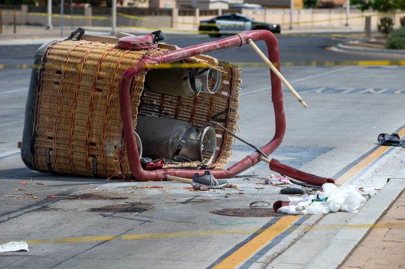 美熱氣球新墨西哥州撞電線墜毀 釀5死