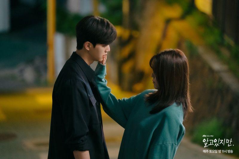 ▲韓韶禧(右)喜歡宋江,卻擔心對方是渣男。(圖/JTBC)
