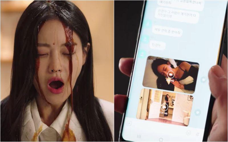 ▲劇中,吳漣序(左)被騙感情誤當第三者,還遭到前男友傳的不雅影片威脅。(圖/翻攝Netflix)