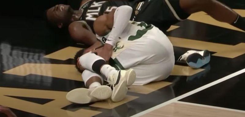 NBA/不妙!字母哥落地左膝受傷 公鹿拉警報