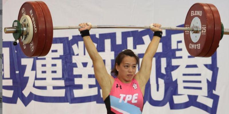▲模擬東京奧運對抗賽,「舉重女神」郭婞淳今(6)日壓軸出賽,最後一次挺舉挑戰141公斤失敗。。(圖/國訓中心提供)