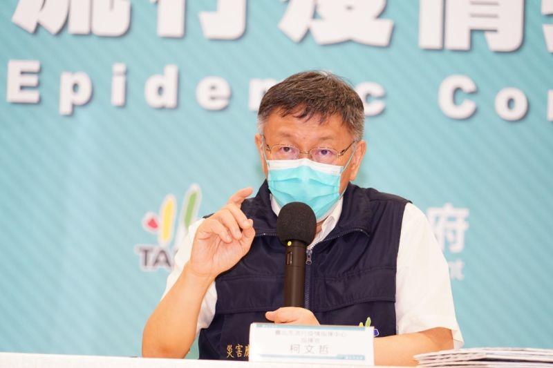 ▲台北市長柯文哲4日宣布,5日起市場攤商全面開始施打疫苗。(圖/北市府提供)