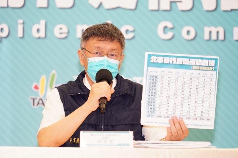 ▲台北市長柯文哲表示,變種病毒演化太快,恐怕要打第三劑疫苗。(圖/北市府提供)
