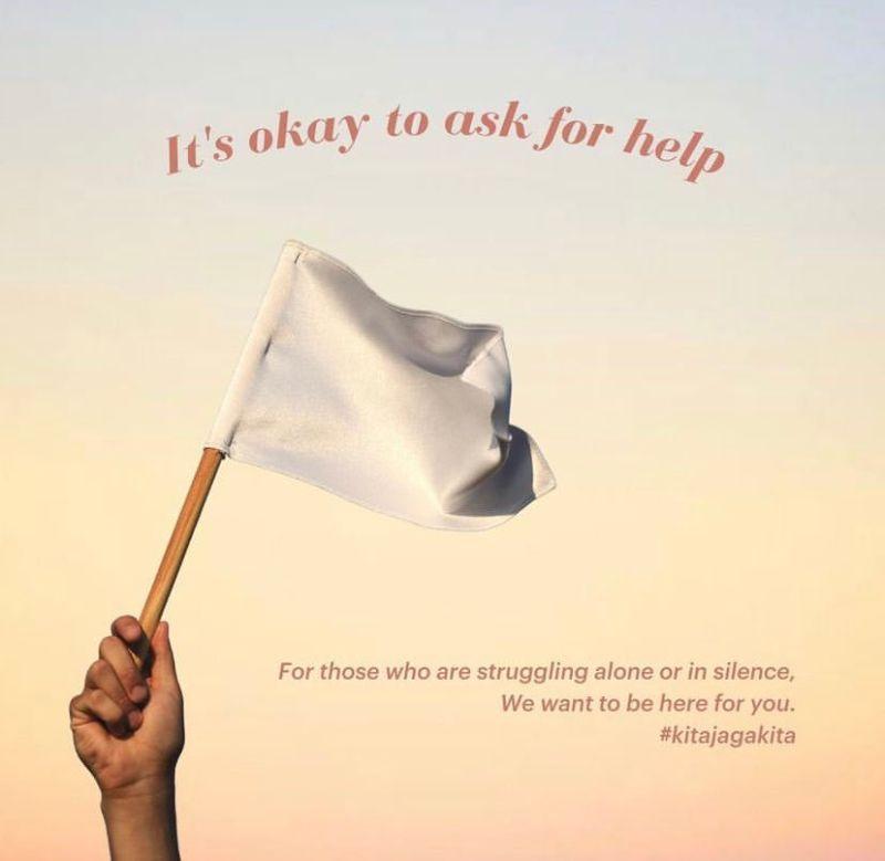 ▲馬來西亞白旗運動。(圖/翻攝自推特)